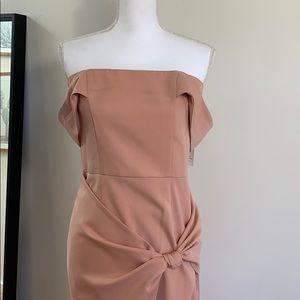Blush pink cocktail dress
